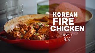 Korean Fire Chicken   Recipe   Buldak   불닭   Easy Asian Home Cooking