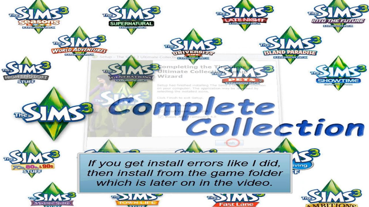 How to install The Sims 3 Ultimate Collection