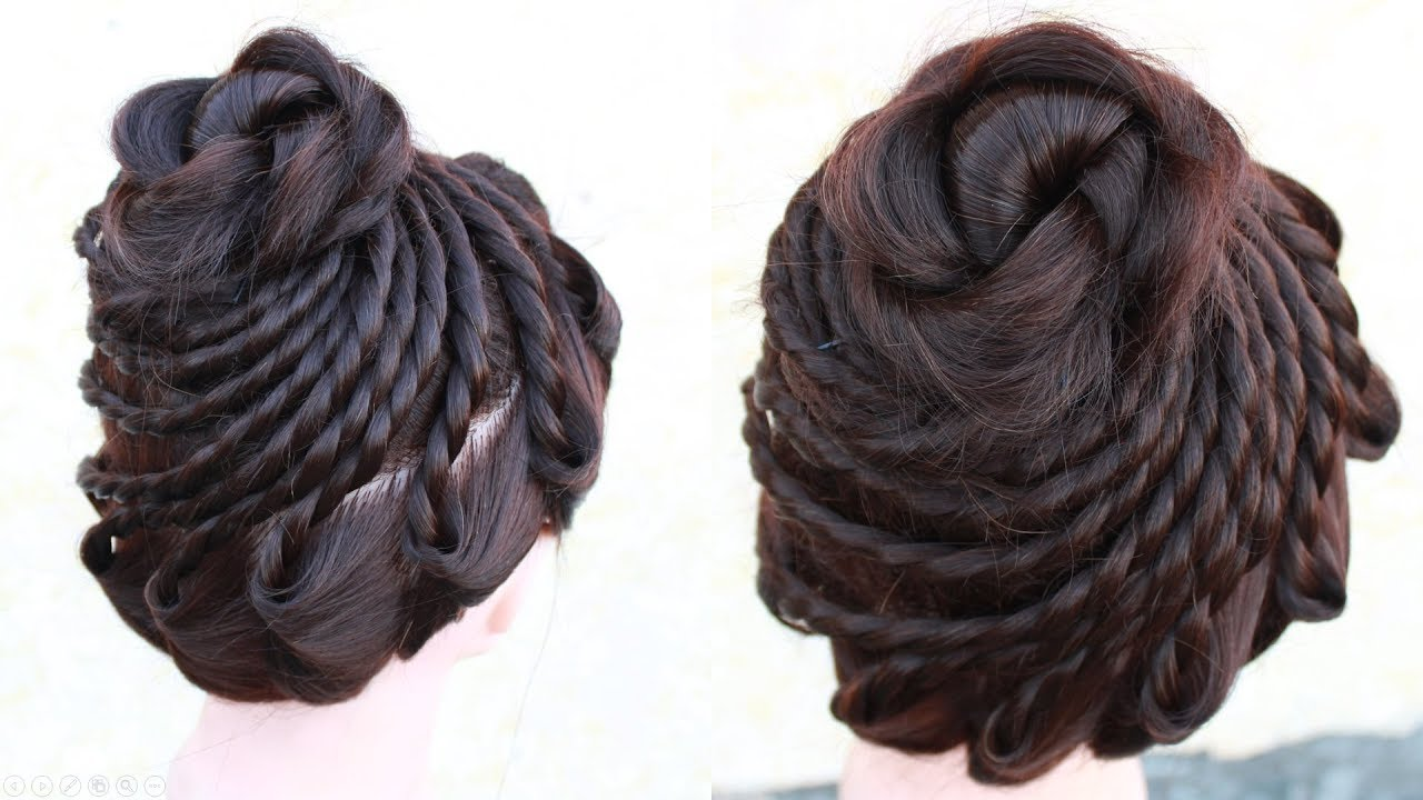 New amazing Bridal Bun Hair Style || wedding hairstyles || wedding ...