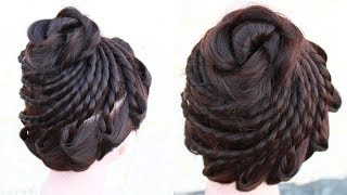 New amazing Bridal Bun Hair Style || wedding hairstyles || wedding juda hairstyle || juda hairstyle