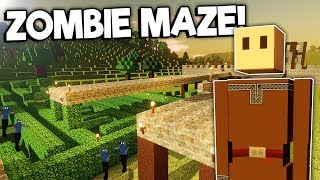 We Created a Maze to Help Stop the Zombie Apocalypse! - Colony Survival Multiplayer Gameplay