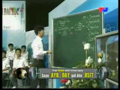 Dạy trên VTV2 bài tích phân