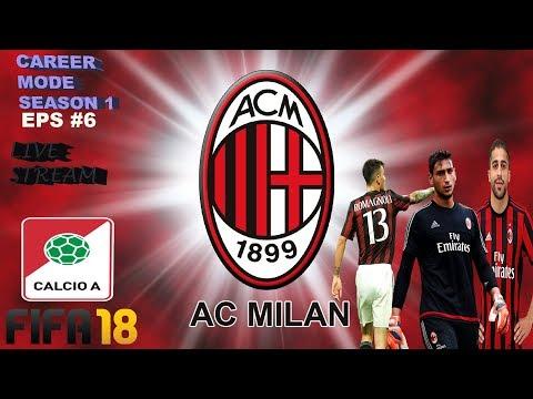 AC MILAN CAREER MODE FIFA 18 Episode #6 **MILAN VS NAP0LI**{ TRANSFER MARKET }