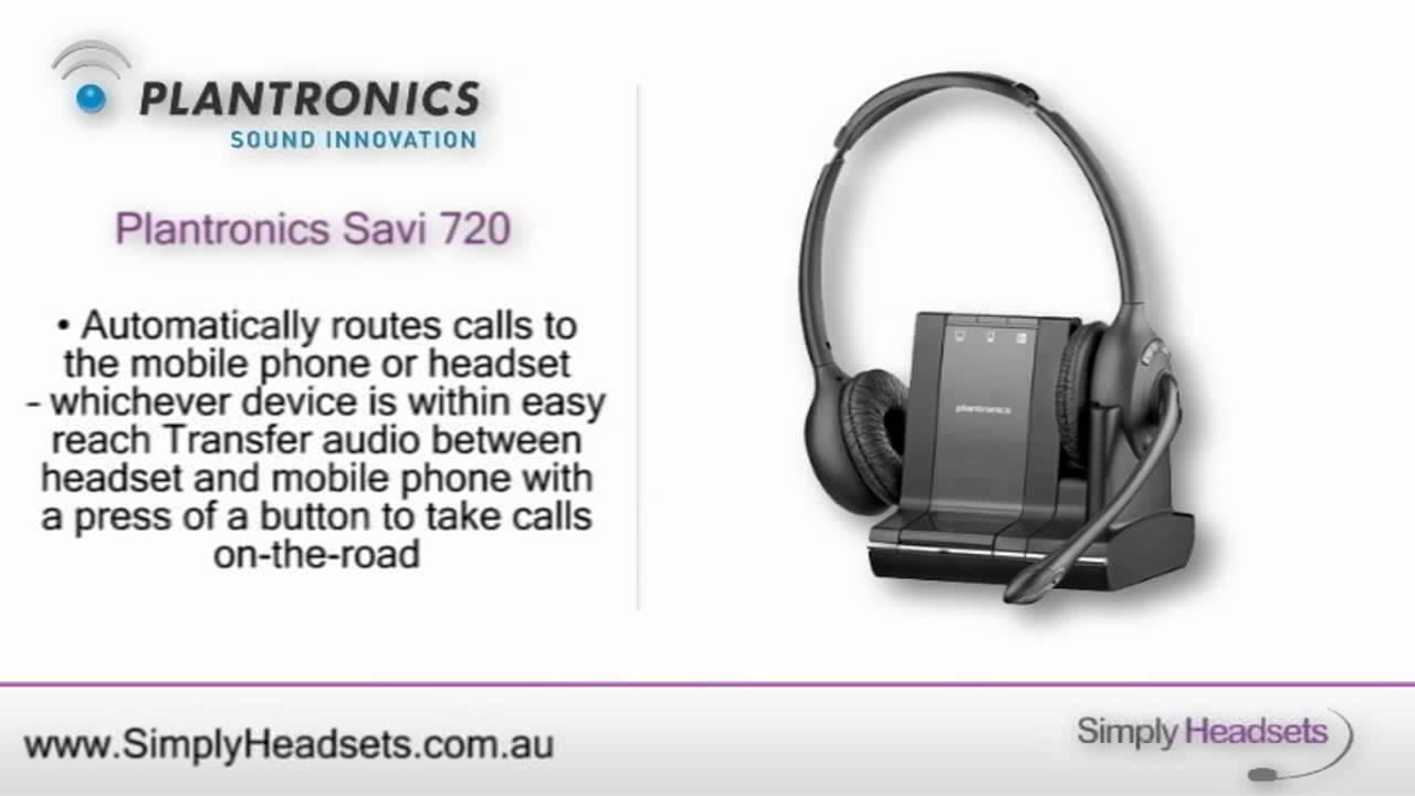 Plantronics/Poly Savi W720 Wireless Headset - DISCONTINUED