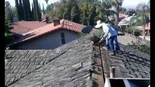 Roof Removal : How to remove wood shakes, DIY Video ,roof demolition