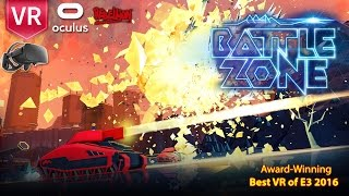 Battlezone Oculus Rift A Must have VR Game with intense tanks battle + action + arcade + strategy