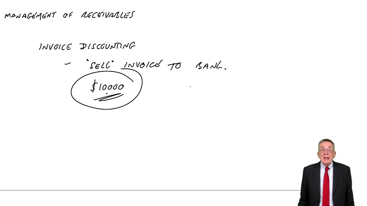 ACCA F9 The Management of receivables - Invoice discounting and factoring