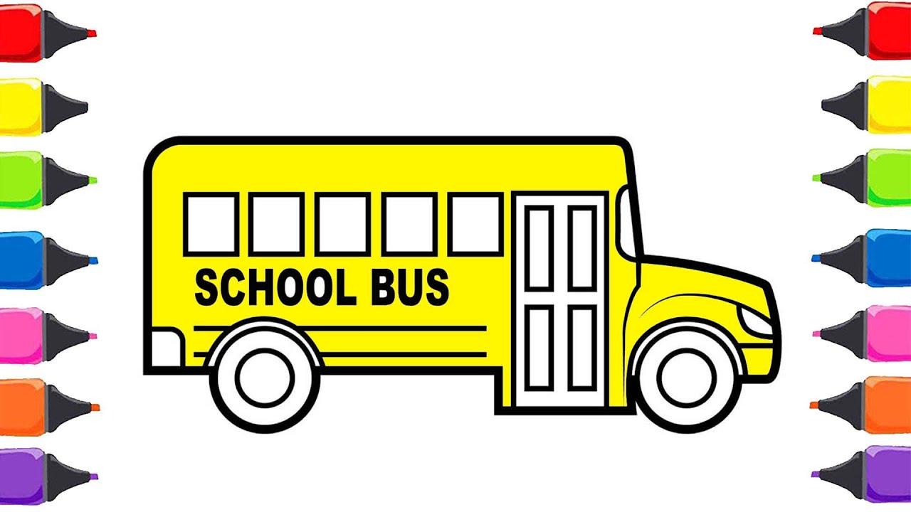 Otobusun Tekelegi Cizgi Film Boyama Oyunu Ile Renkleri Ogreniyorum
