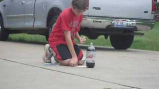 the best diet coke and mentos explosion