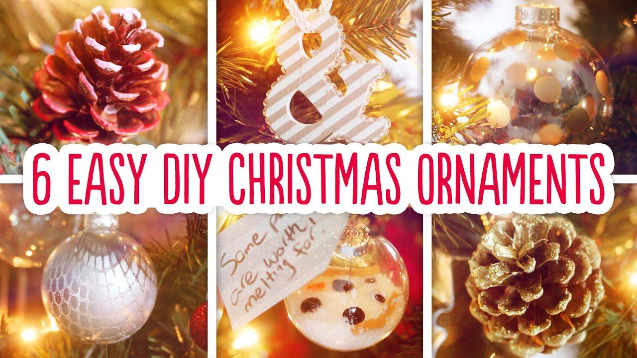 6 Christmas Ornaments Part - 32: 6 Easy DIY Christmas Ornaments - YouTube
