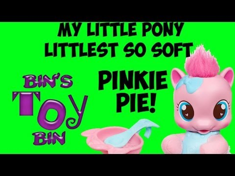 My Little Pony LITTLEST SO SOFT PINKIE PIE Plush Filly & Accessories Review! by Bin's Toy Bin
