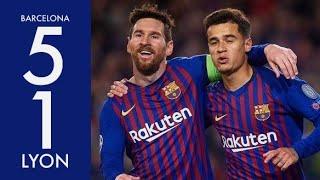 Barcelona vs Lyon (5-1) | All goals and highlights