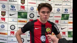 Albin Linnér efter matchen mot GAIS