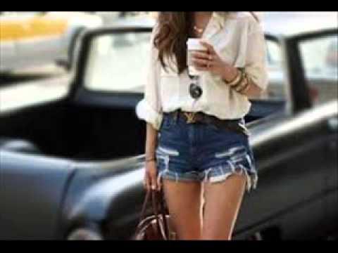 938a0a51e6 high waisted shorts outfits tumblr - YouTube