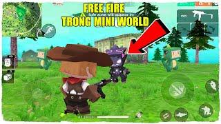 MINI GAME : FREE FIRE TRONG MINI WORLD ** CUỘC ĐẤU SÚNG GÓC NHÌN THỨ 3 CỦA NOOB TEAM