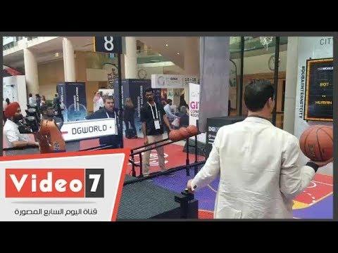 مصرى يتحدى روبوت فى لعبة كرة السلة  - 15:54-2018 / 10 / 15