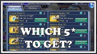 Armor Tokens Exchange Which 5* to Get? - Dissidia Final Fantasy Opera Omnia