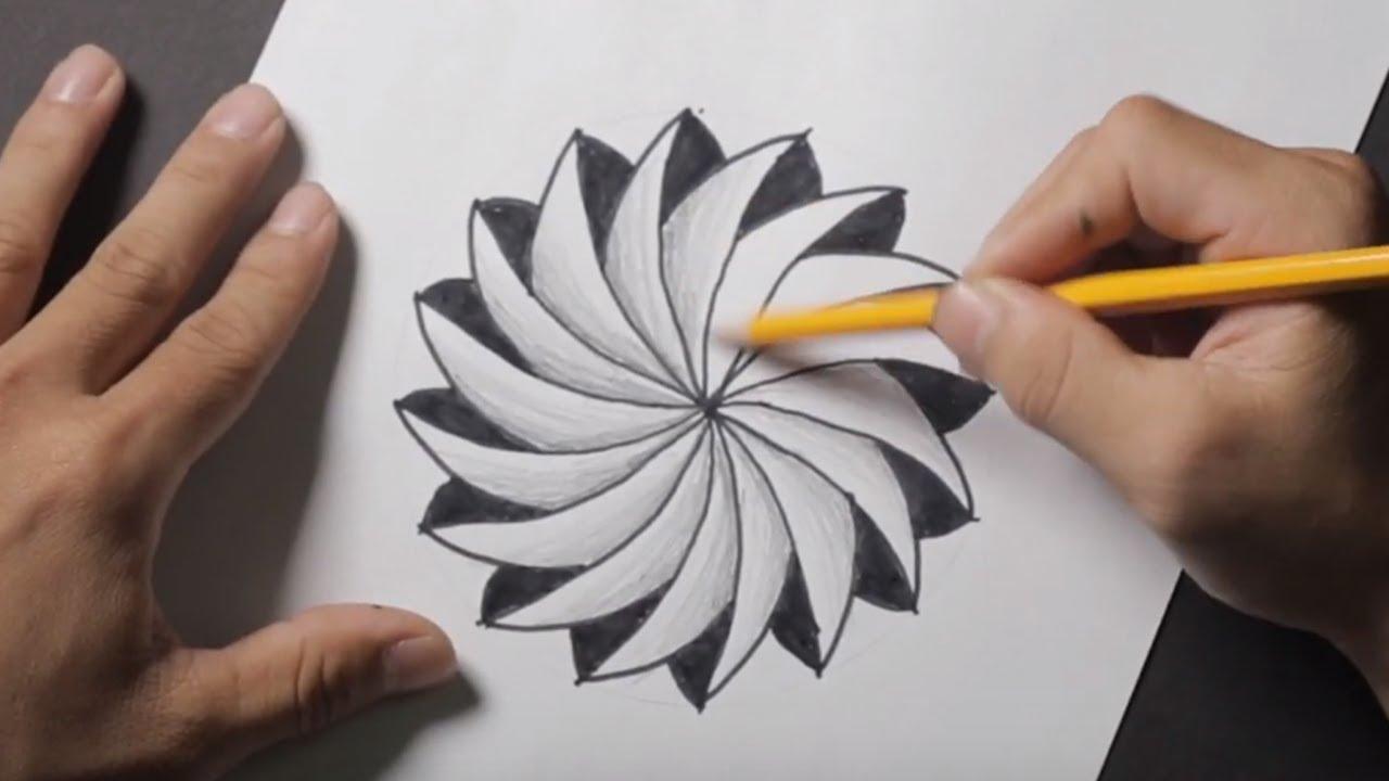 Hướng dẫn vẽ 3D đơn giản- Cách vẽ đẹp – Simple 3D drawing