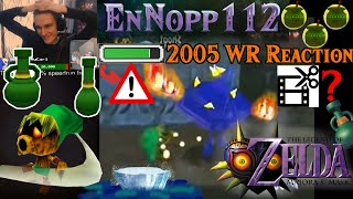 Live Reaction: 2019 Any% World Record holder watches 2005 Any% WR - Majora's Mask Speedrunning