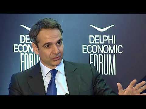 Kyriakos Mitsotakis In Conversation With Martin Wolf | Delphi Economic Forum 2018