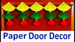Door hanging Toran | Door decor craft from simple color paper | Bandarwal | Christmas decoration
