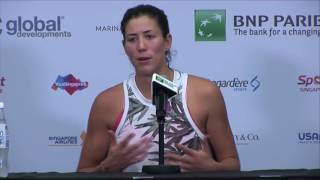 Garbine Muguruza 2016 WTA Finals Signapore Press Conference