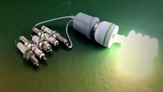 Experiment Free Energy Using Spark Plug With Speaker Magnet