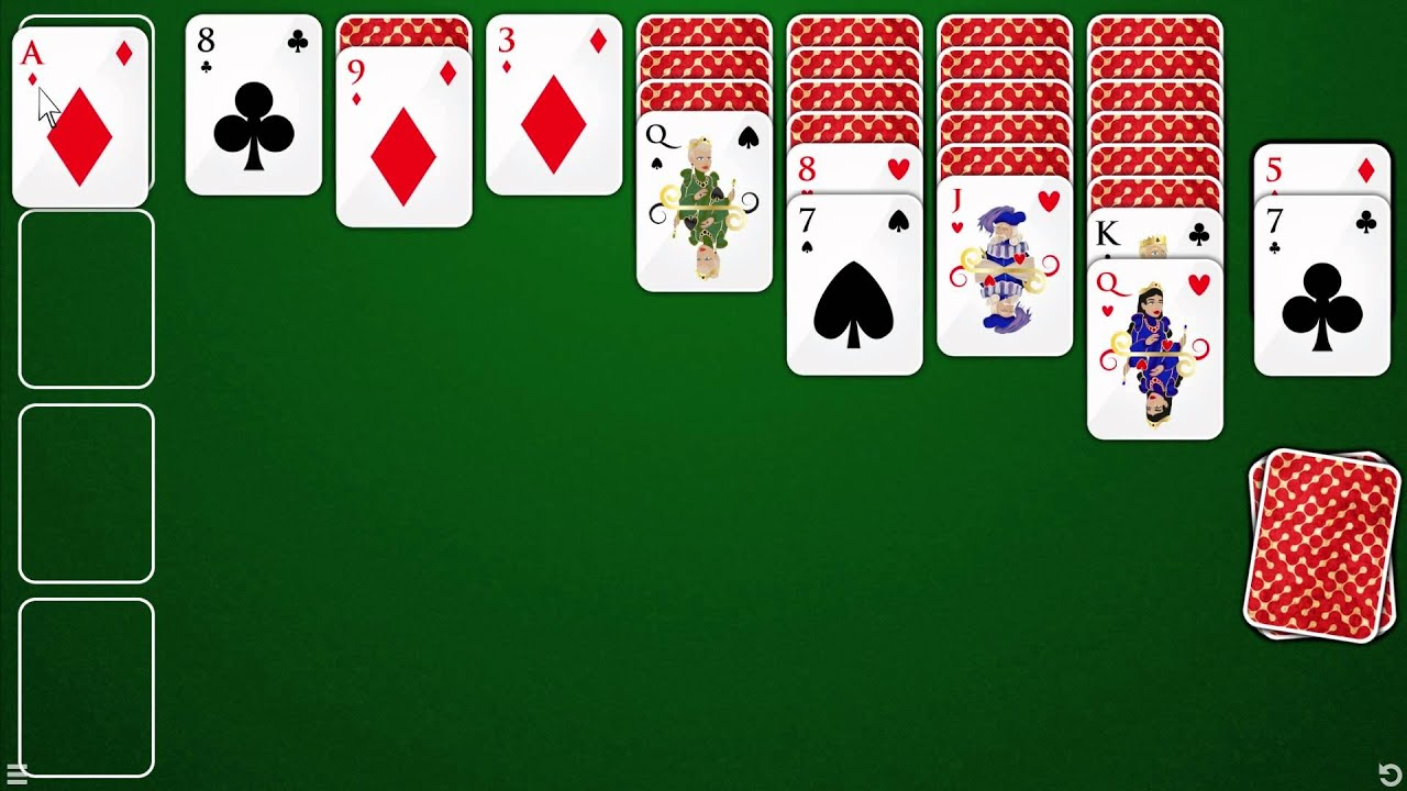 How To Play Klondike Solitaire Draw 1 Youtube