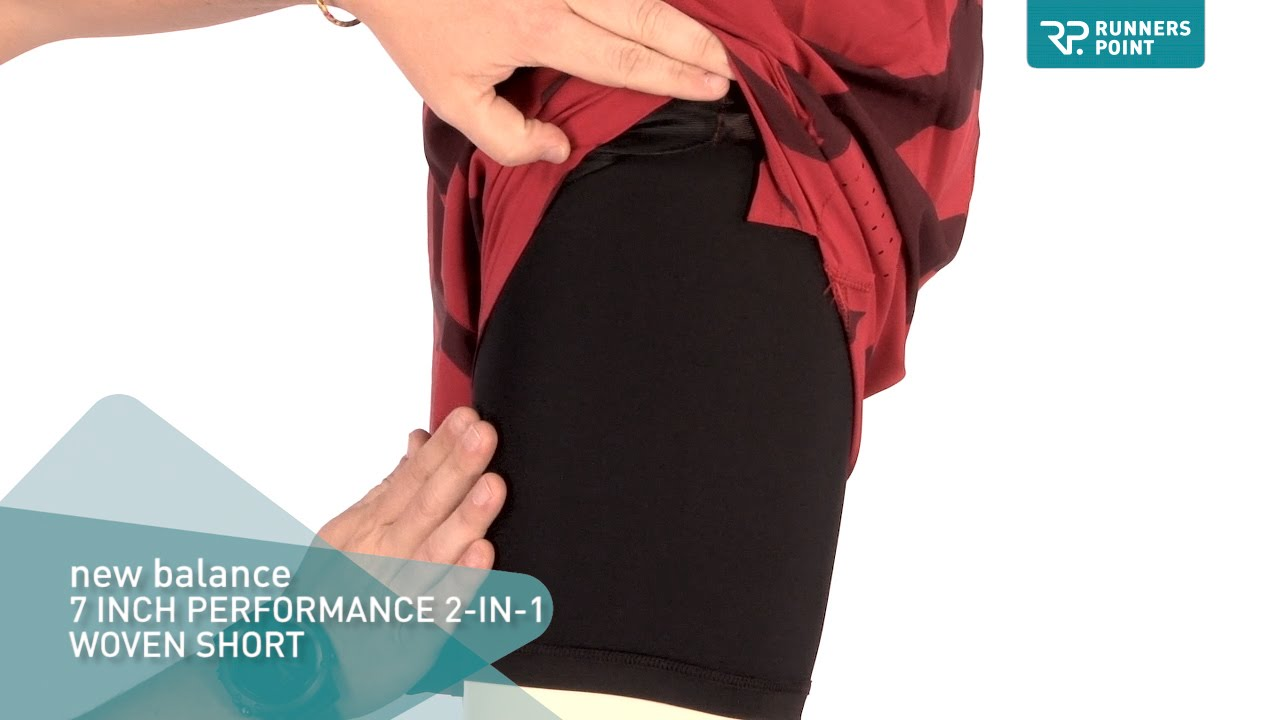 f81ce2225b882 new balance 7 INCH PERFROMANCE 2-IN-1 WOVEN SHORT - YouTube
