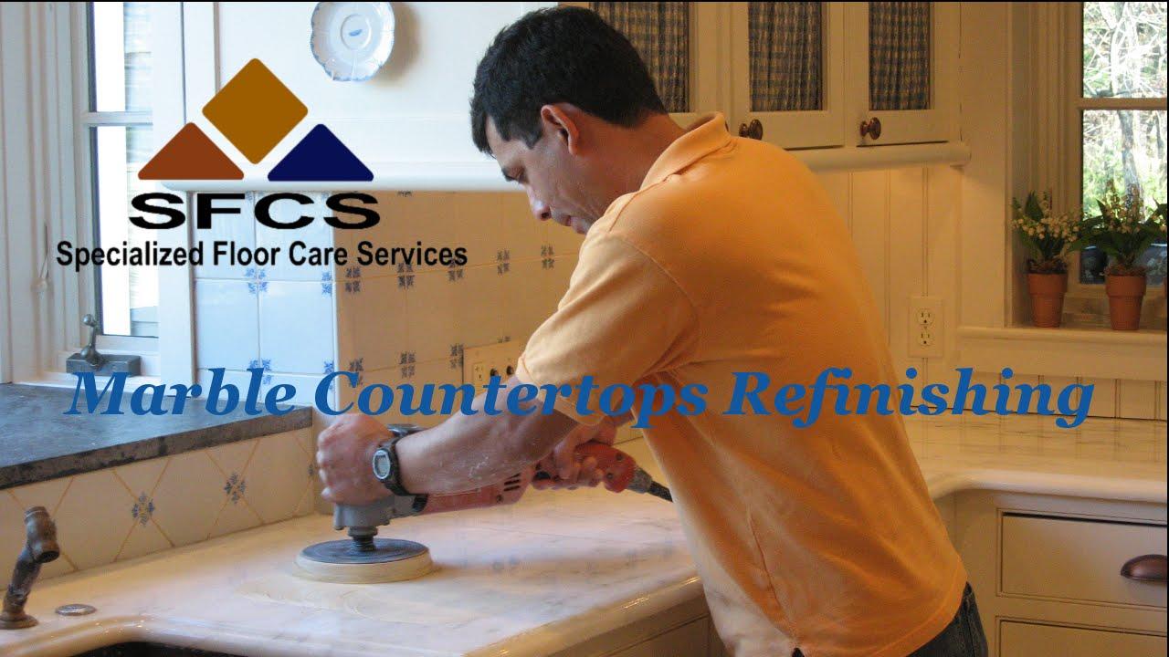 Marble Countertop Refinishing Polishing Machusetts Rhode Island