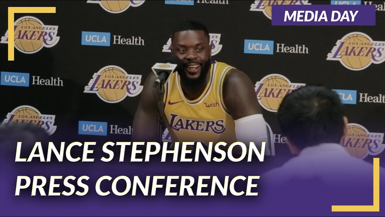 b23f9d0ad Lakers Press Conference  Lance Stephenson on Media Day - YouTube