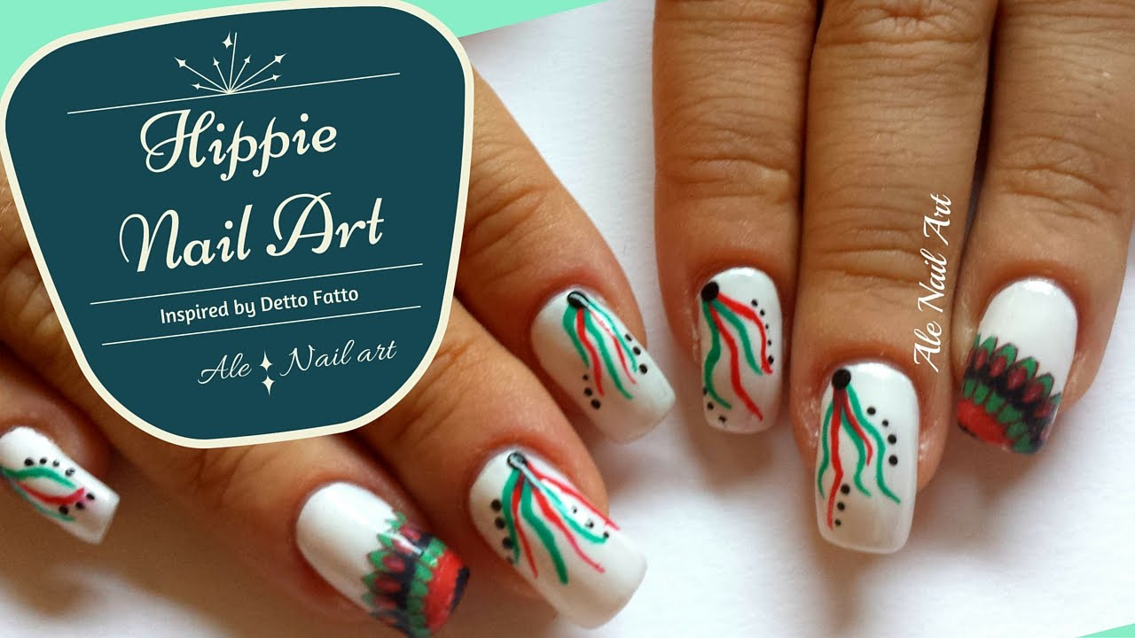 Hippie nail art inspired by detto fatto ale nail art youtube prinsesfo Gallery