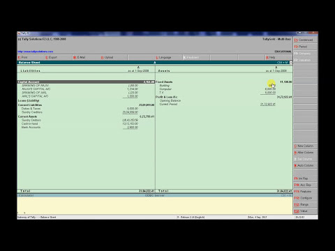 Capital A/c & Drawing A/c Position in Tally in Hindi
