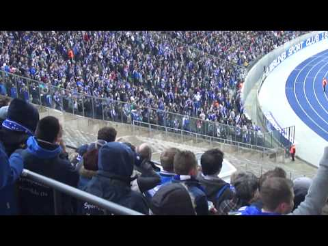 Schalke 04 Fans in Berlin,Hertha BSC vs. Schalke 0:2