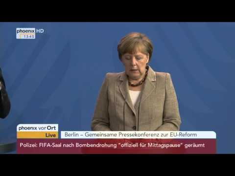 EU-Reform: PK mit Angela Merkel und David Cameron am 29.05.2015