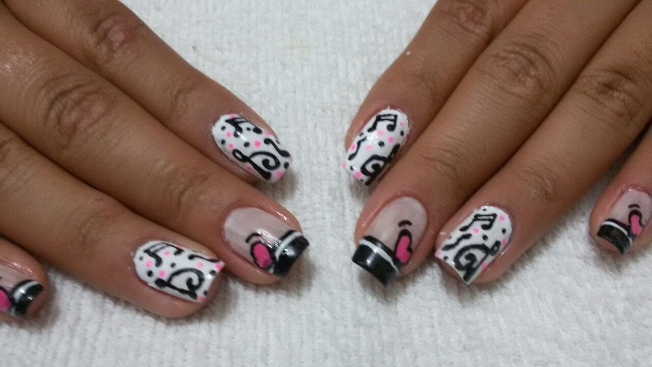 Manicure Diseño Notas Musicales Youtube