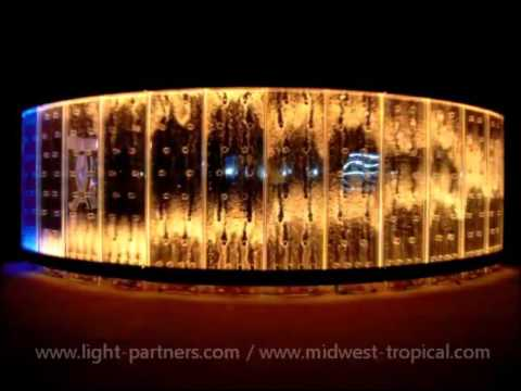 How to Light Custom Bubble Wall Water Walls with LED Lighting Effects You Have to See This! Amazing!