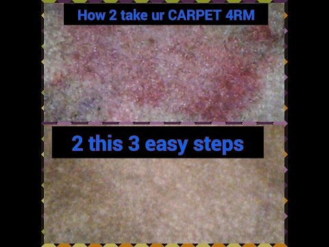 How to remove RED kool-aid out of carpet!