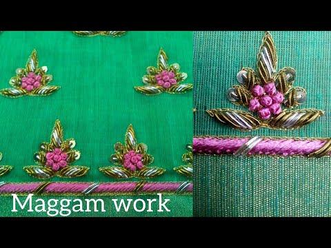 New Maggam Work Latest Blouse Design Zardozi Work Thread Work Aari Work