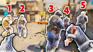 ONE KNIFE vs 5 ENEMIES! | Call of Duty COD: Mobile