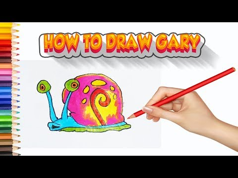 How To Draw Gary Step By Step   Easy Drawing For Kids