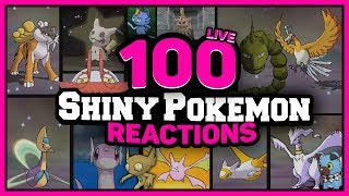 100 LIVE AMAZING Shiny Pokémon Reactions  w/ @Poijz (1-100)