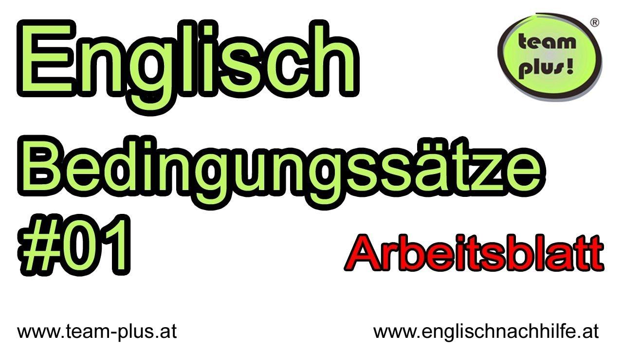 Bedingungssätze #01 - conditional clauses - Englische Grammatik ...