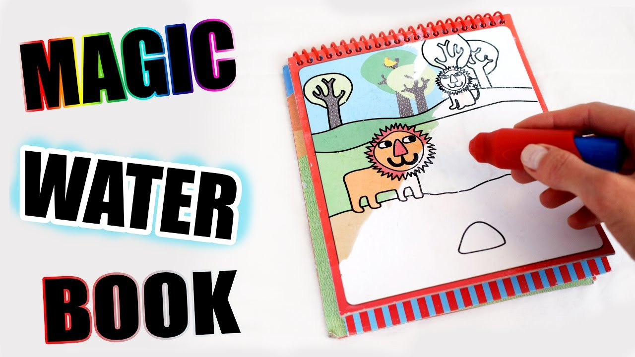 Magic Water Book With Hidden Details Only Water Needed Youtube