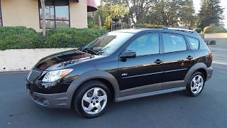 2008 Pontiac Vibe 1 owner with 5 speed manual trans video overview and walk around.
