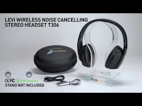 Noise cancelling HD audio wireless headphones LEVI
