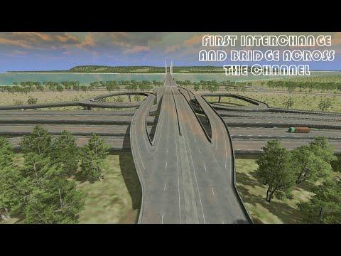 First Interchange and Bridge Across The Channel, Cities Skylines: Mopu Archipelago Series. Episode 1  