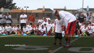 AMAZING 7 YR OLD TD CATCH FROM COLIN KAEPERNICK AND TD DANCE!!!