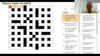Solving the Independent, Guardian AND Times crosswords 4th Oct