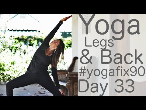 Yoga to Strengthen Legs and Back Day 33 Yoga Fix 90 with Fightmaster Yoga